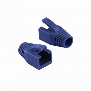 Knickschutztülle 8, 0 mm für Cat.6 RJ45 Steckverbinder, blau, LogiLink® [MP0035B]