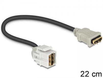 Keystone Modul HDMI Buchse an HDMI Buchse 250____deg; mit Kabel, Delock® [86328]