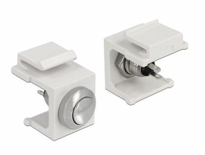 Keystone Drucktaster weiß, Delock® [86401]