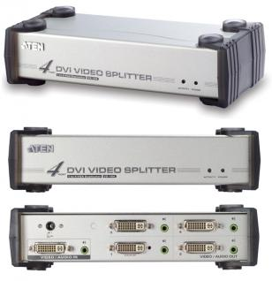 Aten® Video Splitter, 4 port DVI mit Audi VS-164