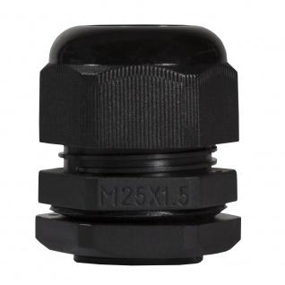 Kabelverschraubung M25, 10 Stück, IP68, schwarz, LogiLink® [CG0M25B]