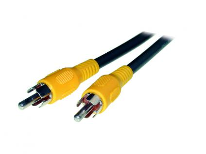 kabelmeister® Cinch Video Verbindungskabel, gelb, Länge: 1, 8m