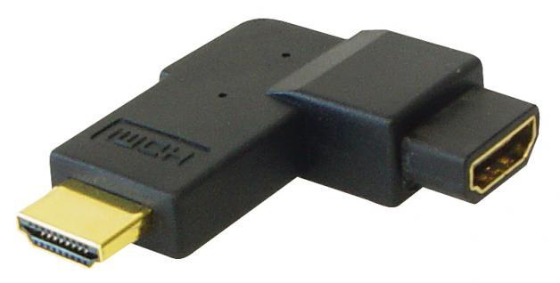 kabelmeister® HDMI Adapter Stecker auf Buchse, 90____deg; gewinkelt, vergoldete Kontakte