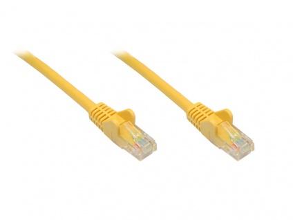 Patchkabel, Cat. 6, U/UTP, gelb, 15m, Good Connections®