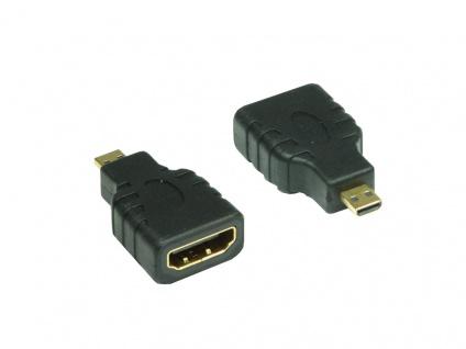 kabelmeister® HDMI Adapter A-Buchse an D-Stecker (Micro Stecker)