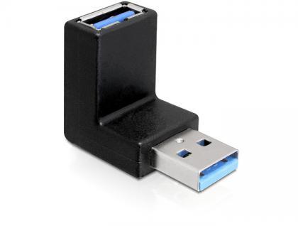 Adapter, USB 3.0, Stecker an Buchse, 90____deg; (vertikal gewinkelt), Delock® [65339]