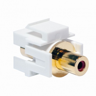 Keystone Verbinder Cinch Buchse an Cinch Buchse - rot, LogiLink® [NK0021]