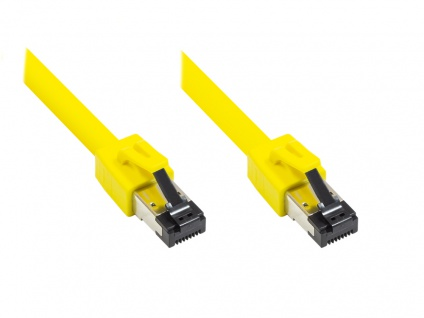 Patchkabel Cat. 8, S/FTP, PiMF, halogenfrei, 2000MHz, gelb, 25m, Good Connections®