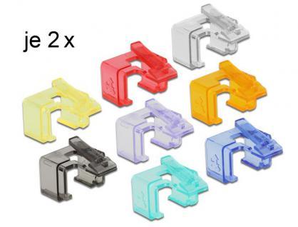 Rastnasenset für Patchkabel, Reparatur Clip 16 Stück Starter Set, Delock® [86420]