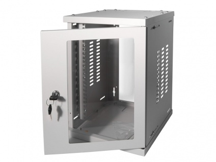 10' SOHO Wandgehäuse 8HE 312x300mm, montiert, grau, LogiLink® [W09Z33G]
