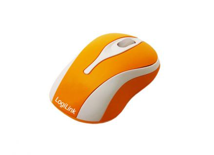 LogiLink® Optische USB Mini-Maus mit LED, ORANGE [ID0023]