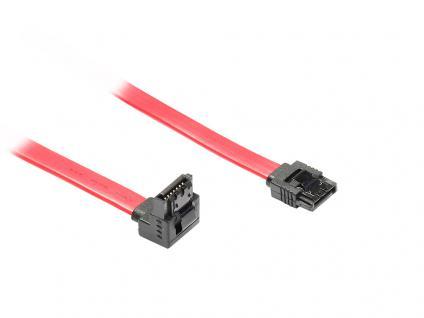 kabelmeister® SATA 6 Gb/s Anschlusskabel mit Metallclip, gewinkelt, 0, 5m