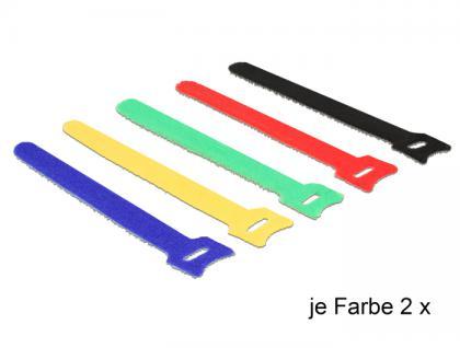 Klett-Kabelbinder farbig L 150 x B 12 mm 10 Stück, Delock® [18634]
