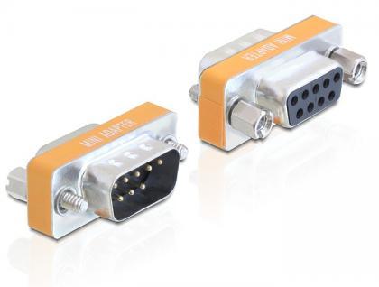Adapter, Nullmodem Sub-D 9pin Stecker an Buchse, Delock® [65255]