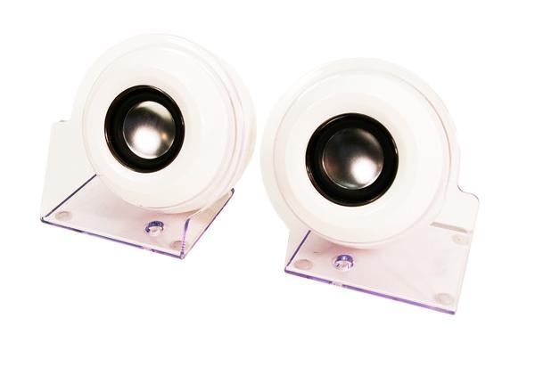 LogiLink® Aktivlautsprecher Stereo 2.0 mit USB Power, weiß [SP0007]