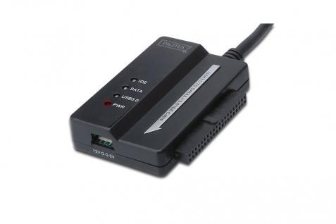 Adapter Kabel, USB 3.0 zu SATA II + 3.5' IDE, Unterstützt Windows7, XP, VISTA und Mac Netzteil(12V/2A) i. Lieferumf., Digitus® [DA-70325]