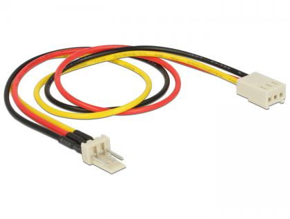 Stromkabel 3 Pin Stecker an 3 Pin Buchse (Lüfter) 30 cm, Delock® [83657]