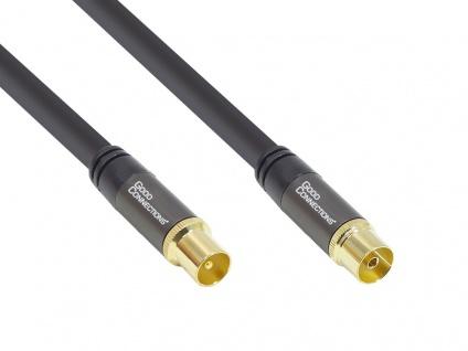 Antennenkabel SmartFLEX, IEC/Koax Stecker an Buchse, vergoldet, vierfach gesc...