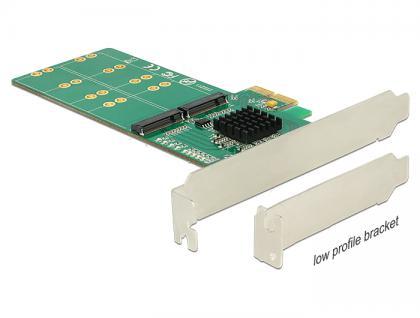 PCI Express Karte an 4x intern M.2 Key B - Low Profile Formfaktor, Delock® [89588]