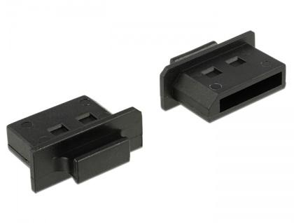 Staubschutz für Displayport Buchse, mit Griff, 10 Stück, schwarz, Delock® [64025]