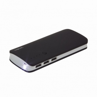 Mobiler Zusatzakku, 10.000 mAh, 3x USB-Port, LogiLink® [PA0145]