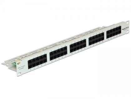 19' Patchpanel 50 Port Cat.3 ISDN grau, Delock® [43030]