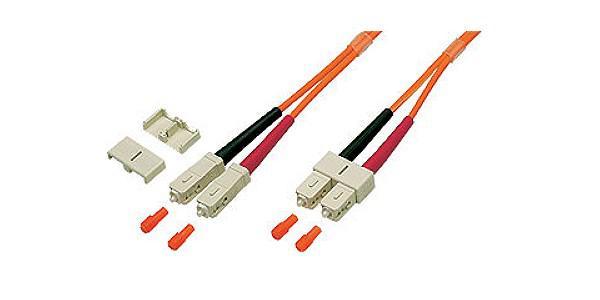 kabelmeister® Patchkabel LWL Duplex OM2 (Multimode, 50/125) SC/SC, 15m