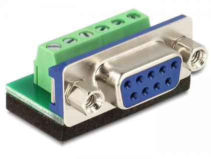 Adapter Sub-D 9 Pin Buchse an 6 Pin Terminalblock, Delock® [65498]