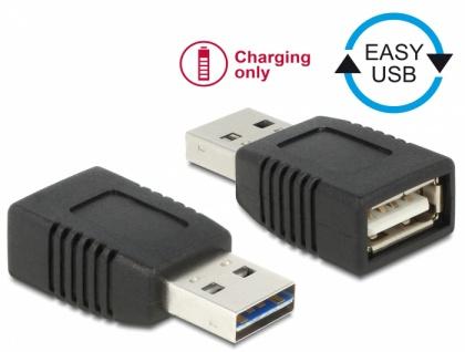 Adapter EASY-USB 2.0-A Stecker zu USB 2.0-A Buchse nur Ladefunktion, Delock® [65965]