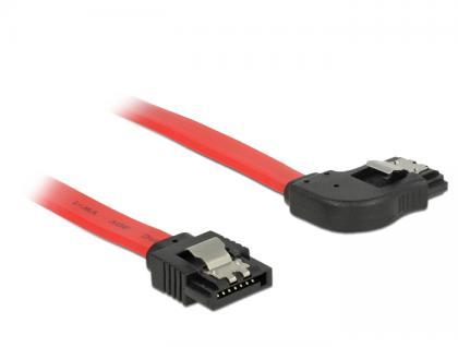Anschlusskabel SATA 6 Gb/s Stecker gerade an SATA Stecker rechts gewinkelt Metall, rot, 0, 7m, Delock® [83970]