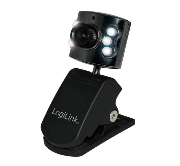 LogiLink® Webcam USB mit LED Beleuchtung [UA0072]