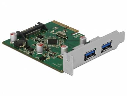 PCI Express x4 Karte an 2x extern USB 3.1 Gen.2 Typ-A Buchse , Delock® [90298]