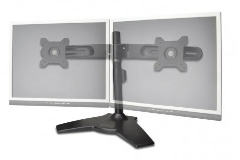 Doppel Monitor Halter mit Fuß, schwarz, 20____deg; schwenkbar, 20____deg; neigbar, 90____deg; rotierbar 15'-24' TFT, max. Gewicht 30kg Digitus® [DA-90322]