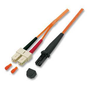kabelmeister® Patchkabel LWL Duplex OS2 (Singlemode, 9/125) MT-RJ/SC, 15m