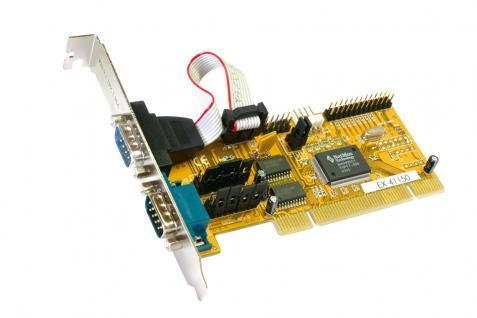 Universal PCI 2 x S FIFO 16C550 / 1 x P EPP/ECP Multi I/O Karte, 32-Bit, Exsys® [EX-41150]