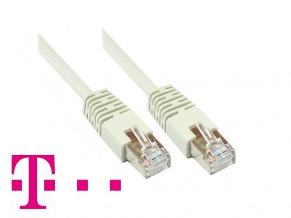 Telekom® Patchkabel, Cat. 5, F/UTP, grau, zum Verbinden von Router, DSL Modem usw. 5m
