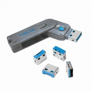 USB-Port Schloss (1x Schlüssel und 4x Schlösser) , LogiLink® [AU0043]