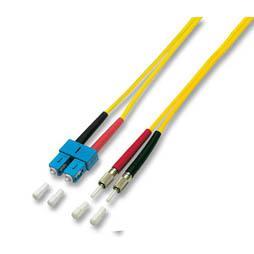 kabelmeister® Patchkabel LWL Duplex OS2 (Singlemode, 9/125) DIN/SC, gelb, 2m