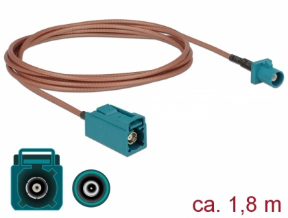 Antennenkabel FAKRA Z Stecker an FAKRA Z Buchse RG-316 1, 8 m, Delock® [89659]