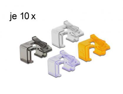 Rastnasenset für Patchkabel, Reparatur Clip 40 Stück Set 2, Delock® [86422]