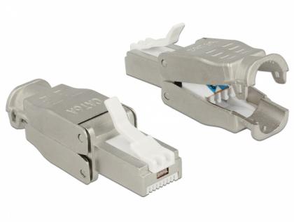RJ45 Stecker Cat.6A STP werkzeugfrei, Delock® [86427]