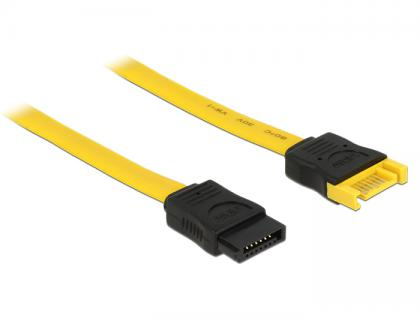 Verlängerungskabel SATA 6 Gb/s Stecker an SATA Buchse 70 cm gelb, Delock® [83950]