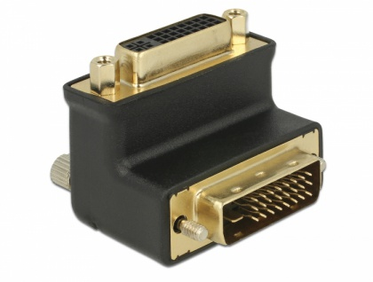 Adapter DVI 24+1 Stecker an DVI 24+5 Buchse 90____deg; gewinkelt, Delock® [65866]
