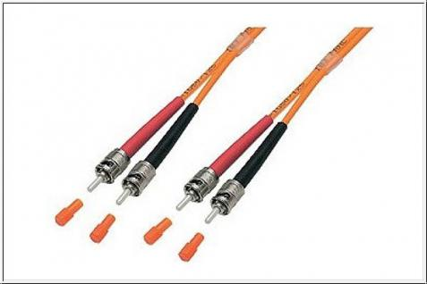 kabelmeister® Patchkabel LWL Duplex OM2 (Multimode, 50/125) ST/ST, 7, 5m