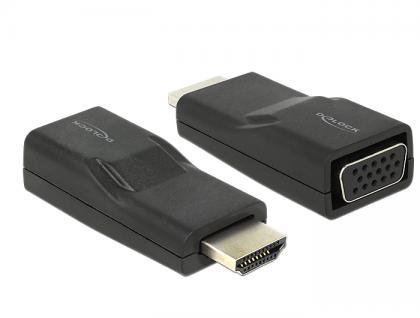Adapter HDMI Stecker an VGA Buchse schwarz, Delock® [65655]