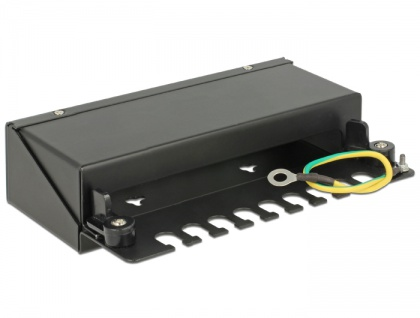 Keystone Desktop Patchpanel 8 Port schwarz, Delock® [43338]
