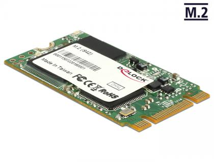 SATA Flash Modul 6 Gb/s, M.2 NGFF Nand Flash, 32 GB, (S42) Micron MLC, Delock® [54713]