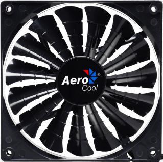 AeroCool® Shark Fan Black Edition, 140mm x 140mm x 25mm, schwarz [EN55451]