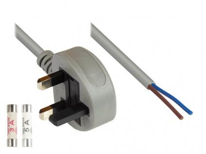 kabelmeister® Netzkabel England/UK Netz-Stecker Typ G (BS 1363) an an abisoli...