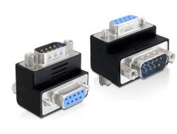Adapter, Sub-D 9pin Stecker an Buchse, 90____deg; gewinkelt, Delock® [65266]